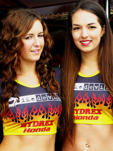 Croft Pirelli Pit Walk, Hydrex Bike Devil Girls