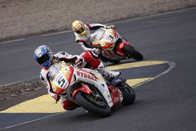 Hydrex Honda - Karl Harris & Stuart Easton - Knockhill 2009