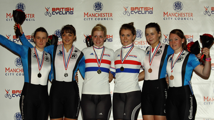 Women's Team Sprint Podium