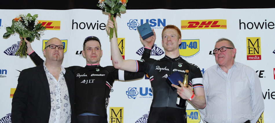 Rapha Condor JTL secure the series ten Championship... Ed Clancy & James McCallum.