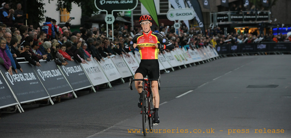 Solo Victory for Team Raleigh's Matthieu Boulo in the Pearl Izumi Tour Series Round 7 Redditch...