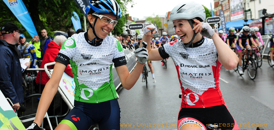 Helen Wyman - Matrix Fitness, Eileen Roe - Starley Primal Pro Cycling (Series Leader) Redditch...