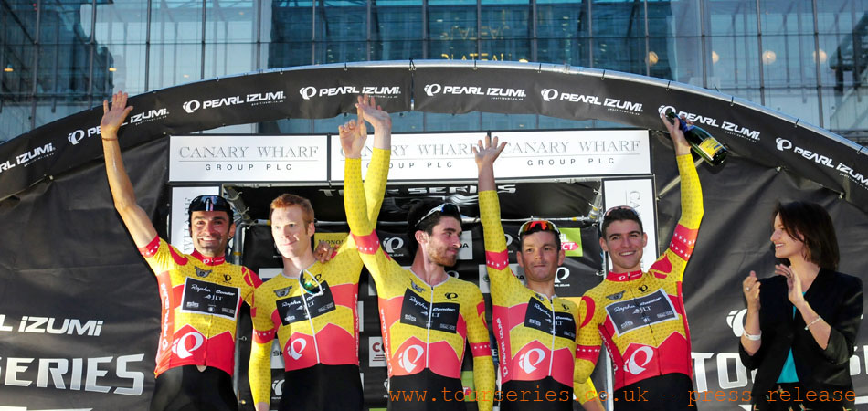 Series Leaders, Rapha Condor JLT, Round Eight, Canary Wharf
