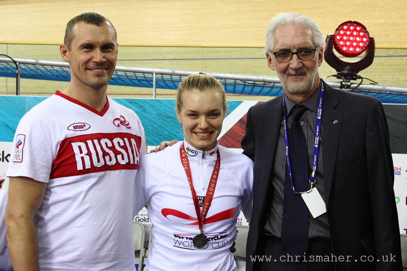 Women's Sprint World Cup Leader Anastasiia Voinova...