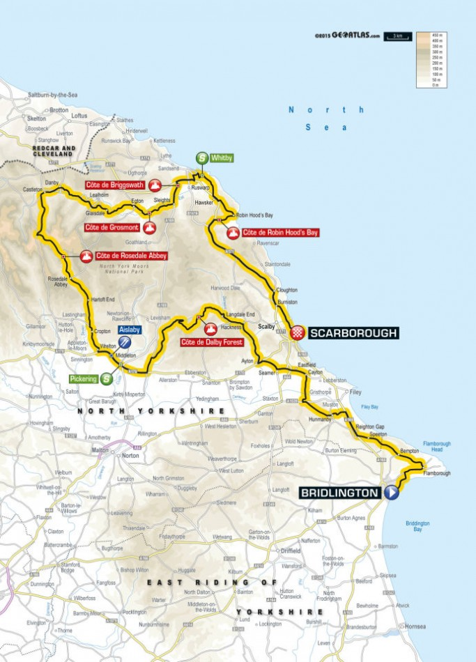 Tour de Yorkshire 2015 Route Stage One: Bridlington to Scarbrough