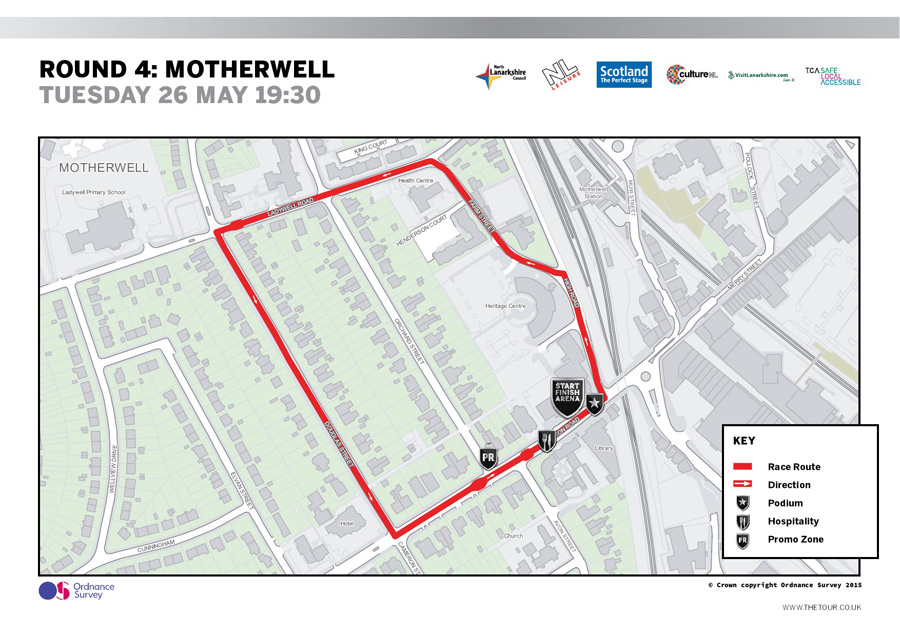 Motherwell Circuit. Women's Race 17.30pm, Men's Race 19.30pm.