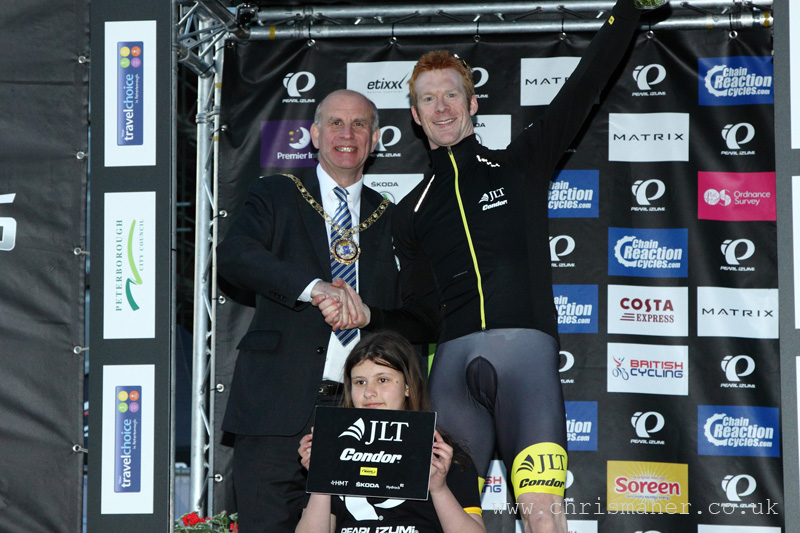 Ed Clancy... Race winner in Peterborough