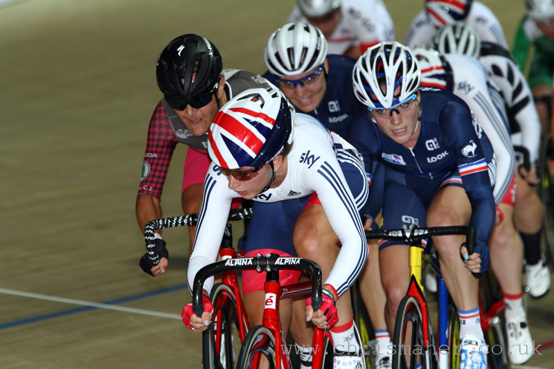 Revolution 52, The Women's Omnium Event, led by Laura Trott.