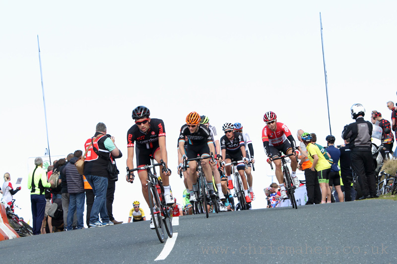 Ian Bibby - NFTO climbs the Nick O'Pendle KoM, Stage 2 Aviva ToB 2015