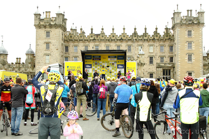 Yellow Jersey, Juan Jose Labato - Movistar, Floors Castle, Kelso.