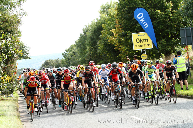 Aviva Tour of Britain 2015 | Stage Five start-line Prudhoe to Hartside