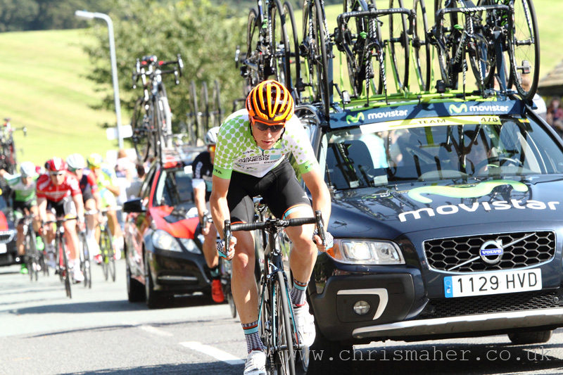 Aviva Tour of Britain 2015 KOM Jersey on Tom Stewart, Madison Genesis... Brampton!