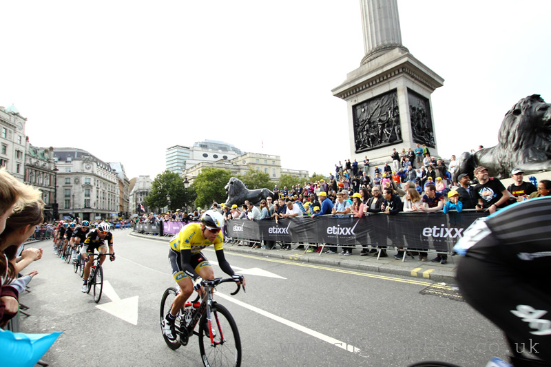 Aviva Tour of Britain 2015 London... Edvald on Trafalgar Square!