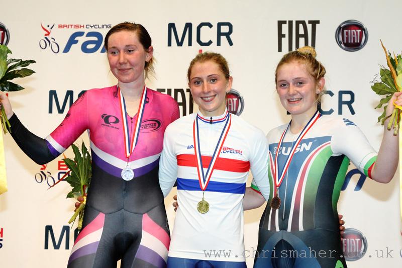 British National Track Championships   Women's Points Race Podium