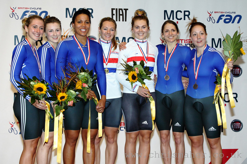 British National Track Championships | Women's Team Sprint Podium