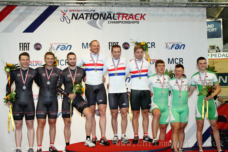 British National Track Championships | Men's Team Sprint Podium