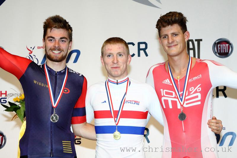 British National Track Championships   Men's Scratch Race Podium
