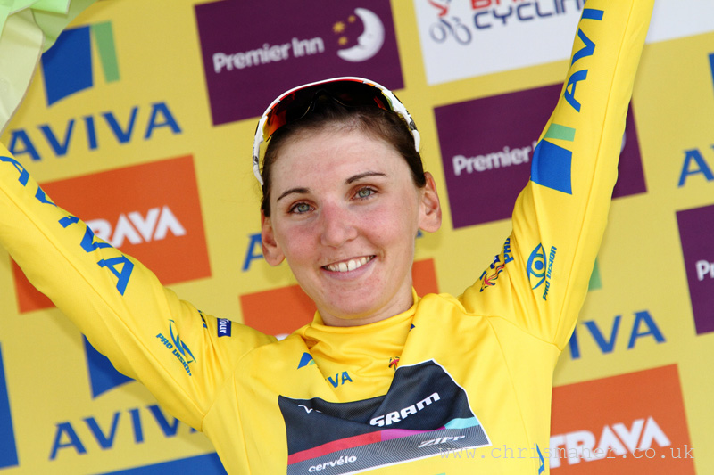 Aviva WT Yellow Jersey - Lisa Brennauer - Chain Reaction Points - Lisa Brennauer