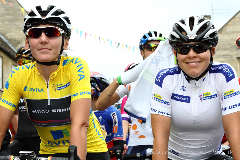 Yellow Jersey for Lisa Brennauer, Velocio SRAM, Oundle, Stage 3
