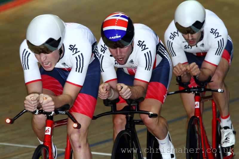 2Km Pursuit GIBSON, WOOD,CAVENDISH, LATHAM,GBR-59.458