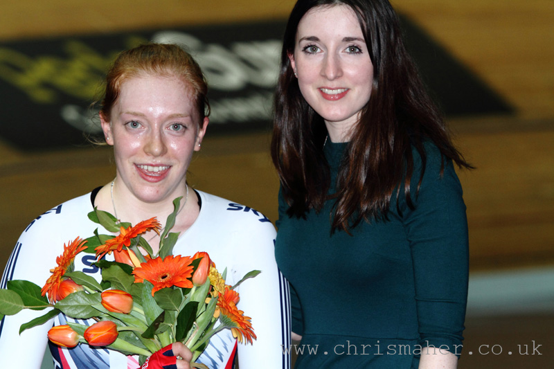 Emily Nelson, Elite Women's UCI Scratch Race Podium