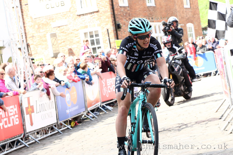 Second for Drops Cycling's Rebecca Durell, Women's Lincoln Grand Prix 2016.