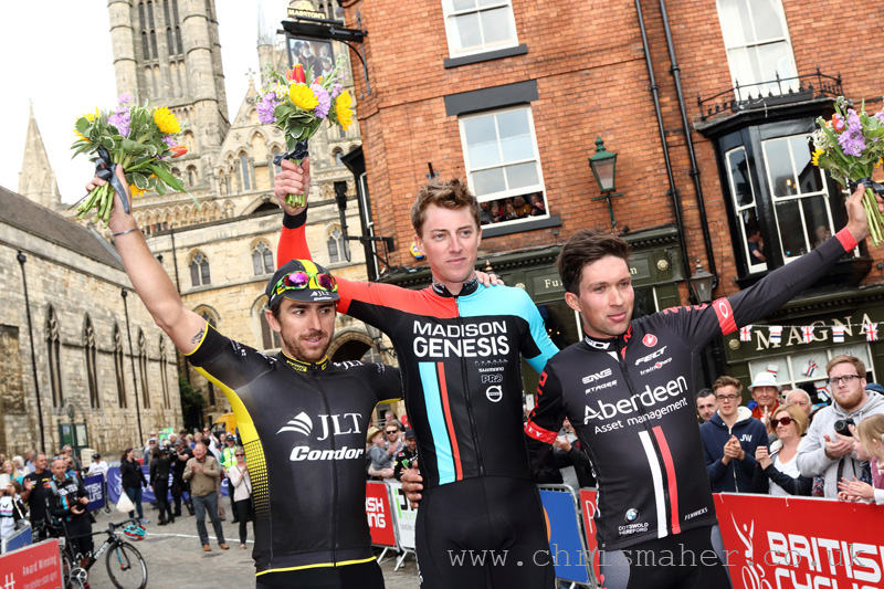 Motorpoint Spring Cup Lincoln GP Podium, Russell Downing (L), Tom Stewart (M), Ian Bibby (R)