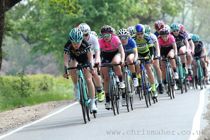 Drops Cycling Team controlling the pace! Rose Osborne, Lydia Boylan, Grace Garner...