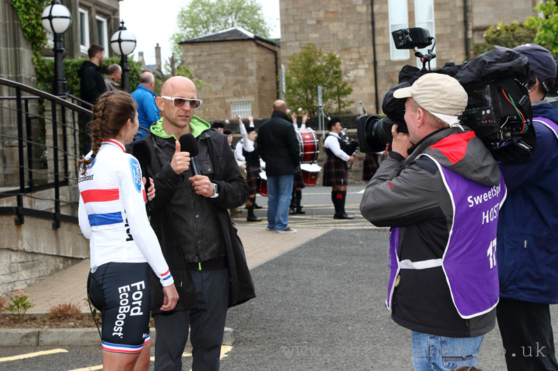 National Circuit Champion Nikki Juniper chatting to Jason Bradbury for ITV4