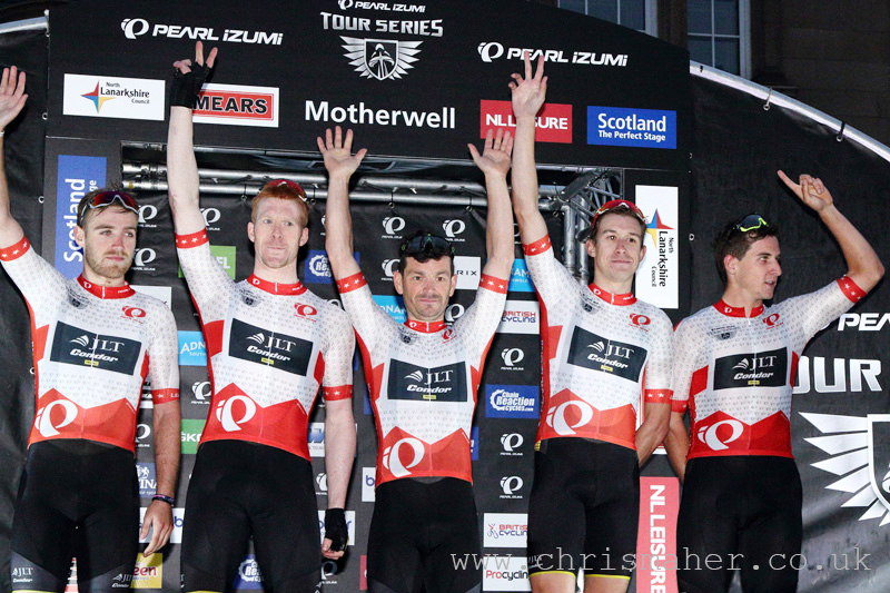 Tour Series Leaders, JLT Condor p/b Mavic after round two in Motherwell