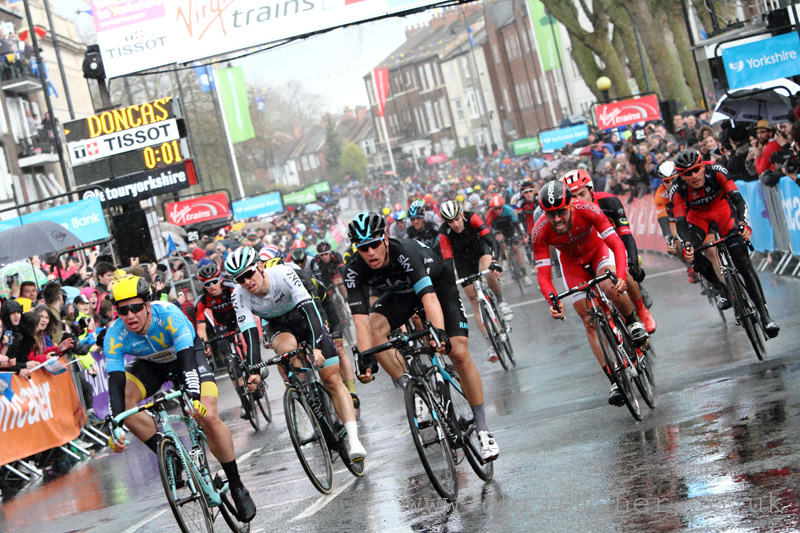 Tour De Yorkshire 2016 - Otley to Doncaster Stage 2 finish line bunch sprint