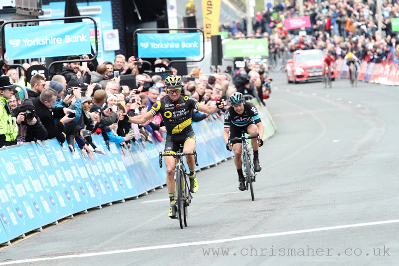 Tour De Yorkshire 2016 Middlesbrough to Scarborough Stage 3 Winner Thomas Voeckler - Direct Energie