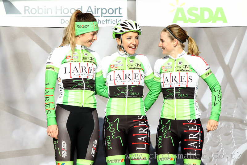 Asda Women's Tour de Yorkshire 2016 - Lares Waowdeals with Eileen Row (L)