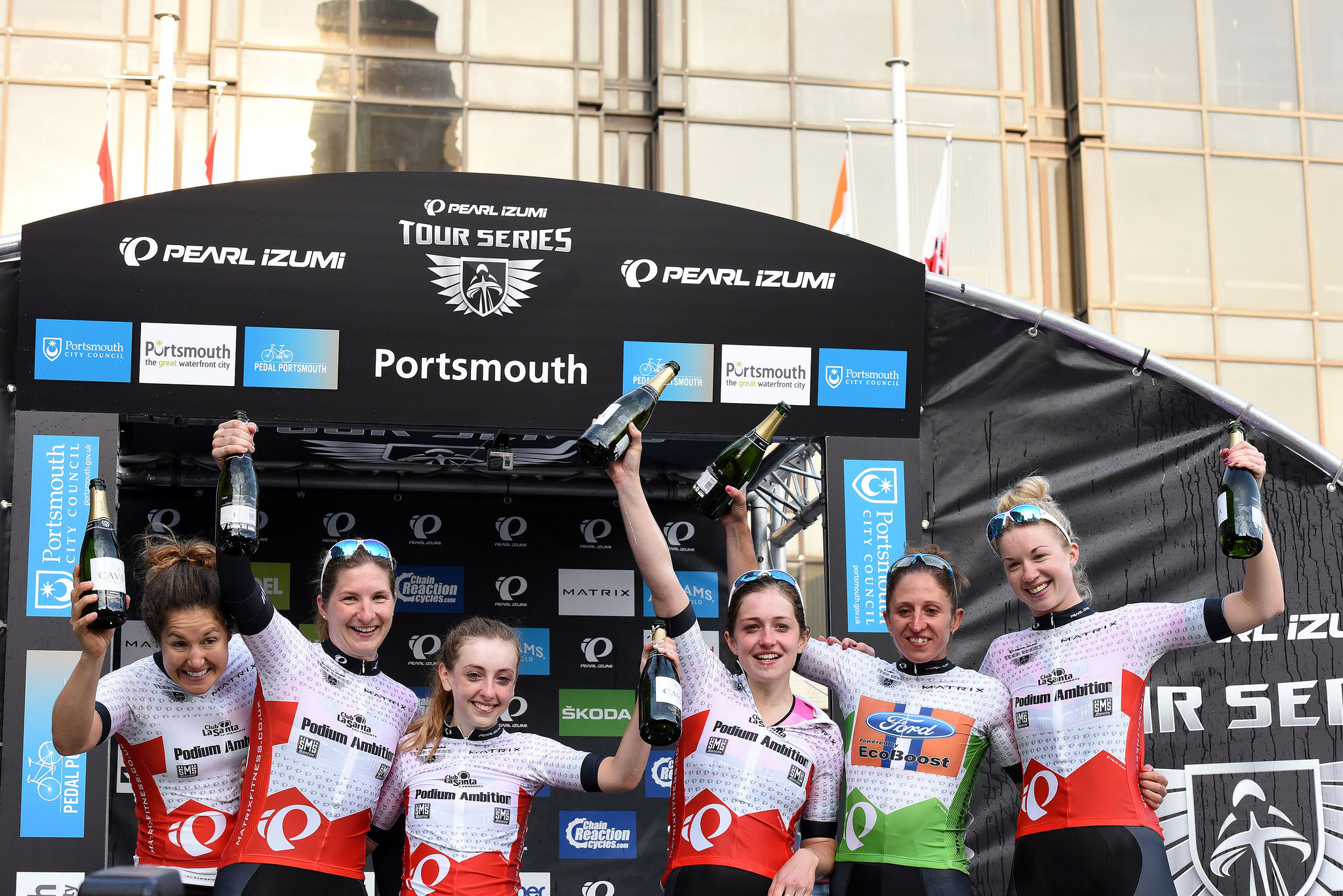 © Tour Series 2016 Podium Ambitions p/b Club La Santa win the series overall classification.
