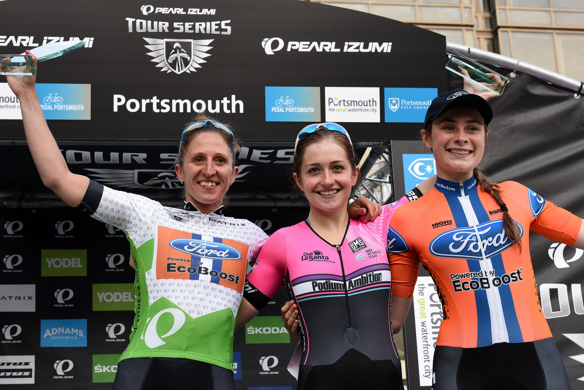 © Tour Series 2016 Grace Garner wins the individual classification. Nikki Juniper 2nd & Charlotte Broughton 3rd.
