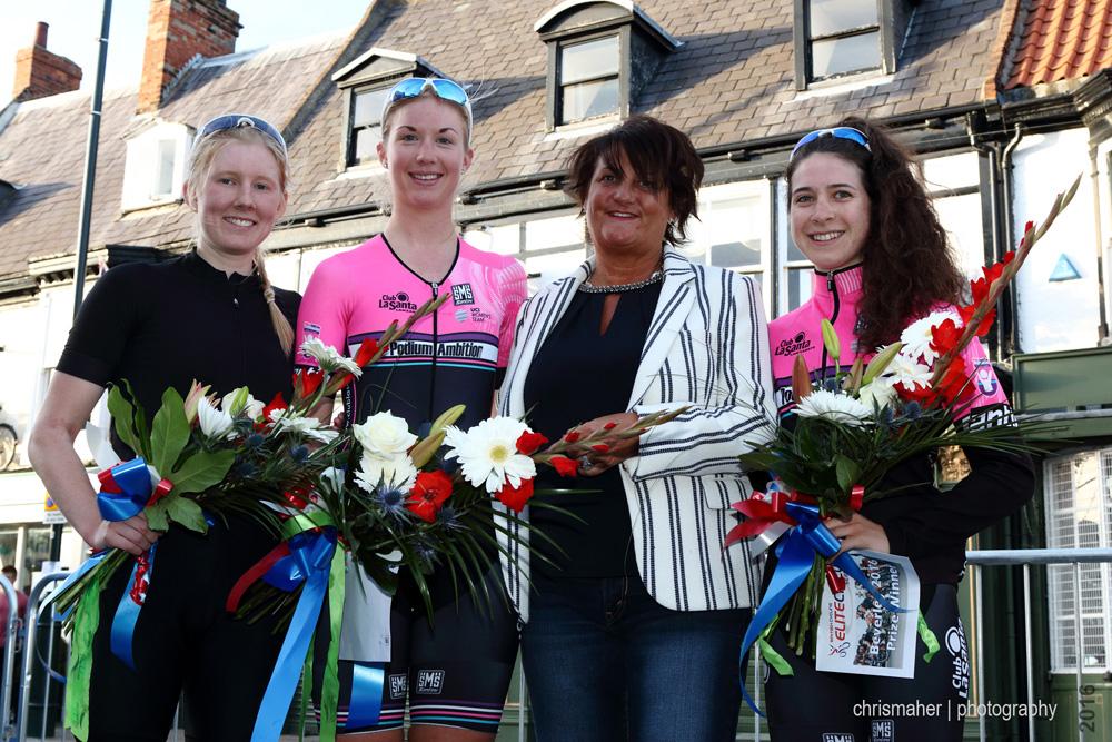 Podium - Jadan Press Women's Circuit Race 2016