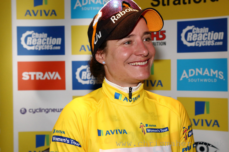 Aviva Women's Tour 2016 Stage 2, Marianne Vos in Yellow