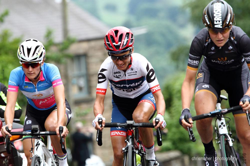 Aviva Women's Tour 2016 Stage 3 Banks Road, Armitstead, Moolman, Longo-Borgini