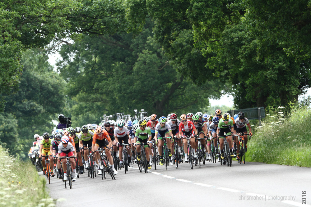 Aviva Women's Tour 2016 | Stage 4 Nottingham to Stoke-on-Trent an attack from Emma Pooley marshalled by Ellen Van Dyke...