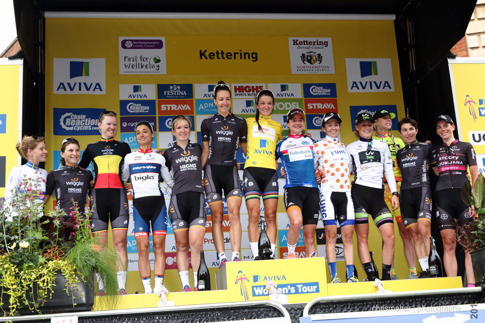 Aviva Women's Tour 2016 | Stage 5 Podium Winners