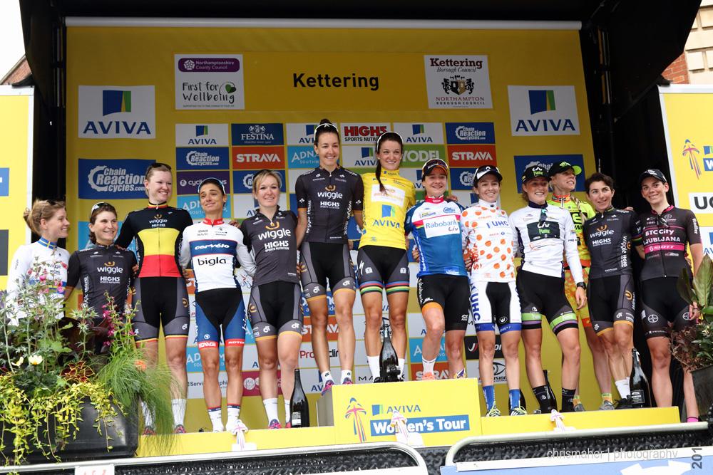 Aviva Women's Tour 2016 | Stage 5 Podium Winners