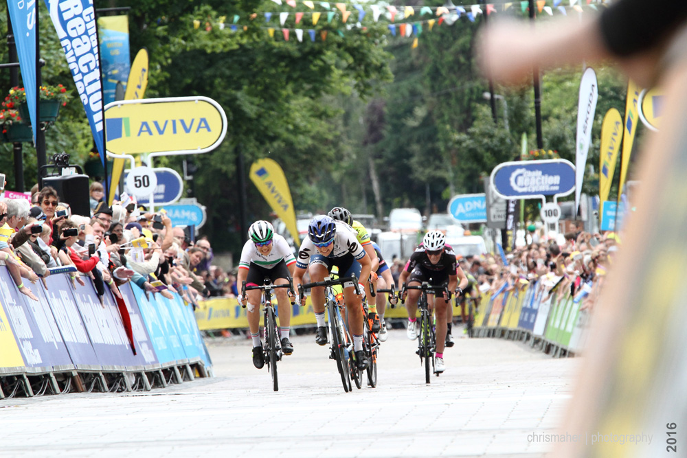 Stage Five Aviva Women's Tour 2016 sprint into Kettering