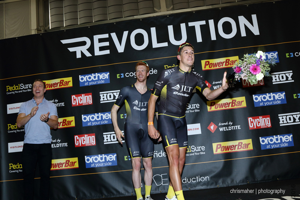 Revolution UK Championship 2016 | Round 2 Glasgow -Elite Winners Podium JLT Condor p/b Mavic