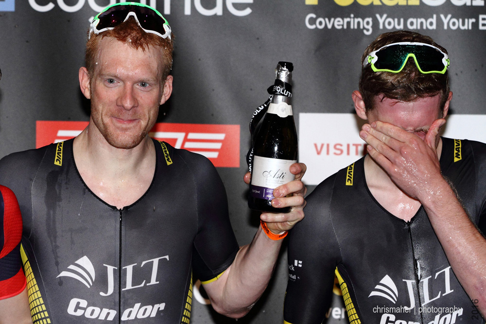 Revolution UK Championship 2016 Winners Ed Clancy & Alastair Slater, JLT Condor p/b Mavic