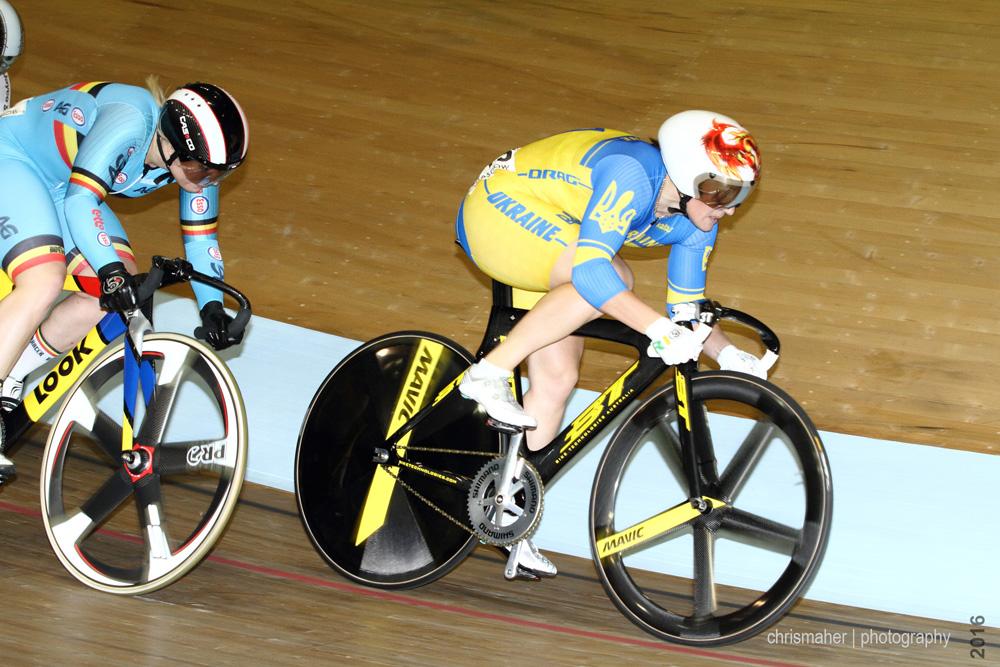 UCI Track World Cup 2016/7 | Glasgow - Round One, Evening Session... Liubov Basova V's Nicky Degrendele