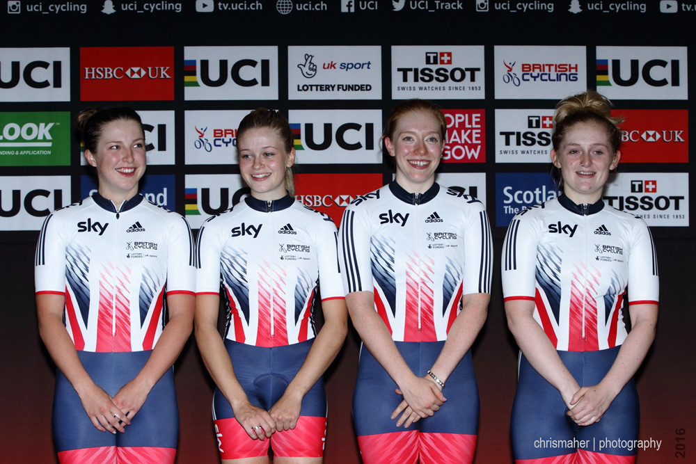 UCI Track World Cup 2016/7 | Glasgow - Round One, Evening Session... Great Britain Women's Team Pursuit.