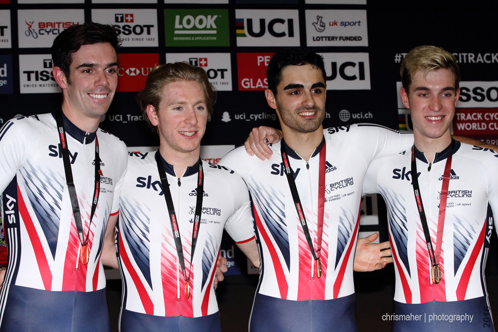 UCI Track World Cup 2016/7 | Glasgow - Round One, Evening Session... Great Britain Podium...