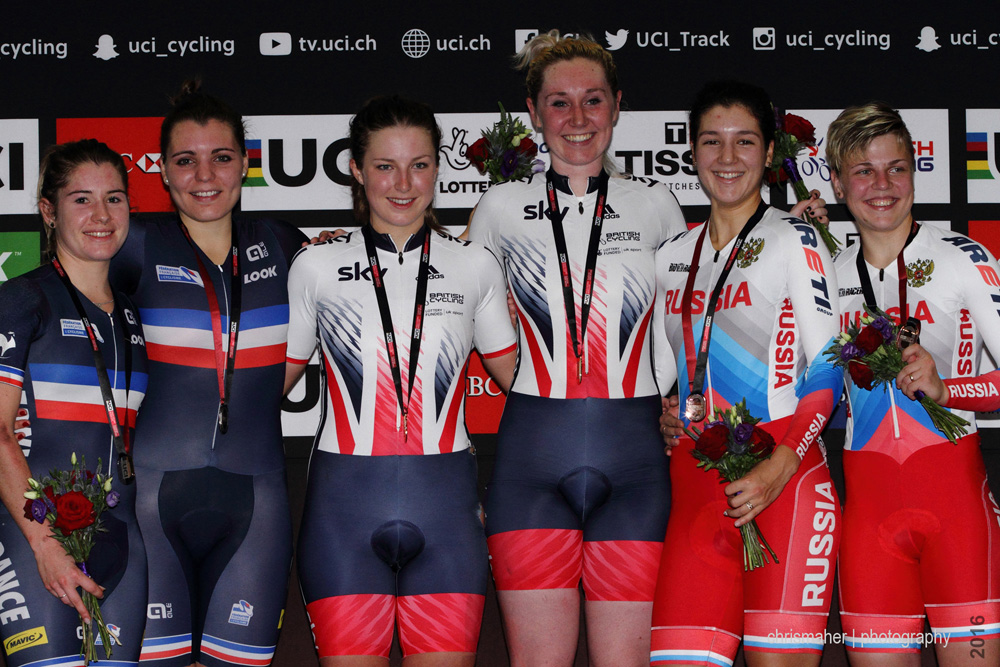 UCI Track World Cup 2016/7 | Glasgow - Round One, Day Two... Women's Madison Podium