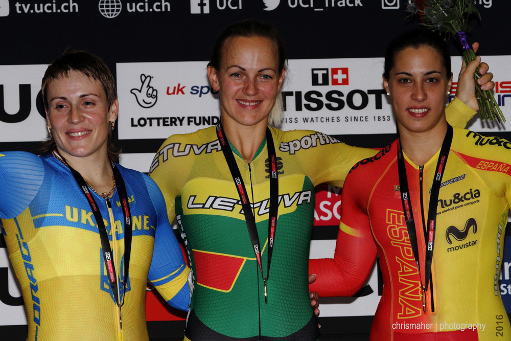 UCI Track World Cup 2016/7 | Glasgow - Round One, Day Two... Women's Sprint Podium