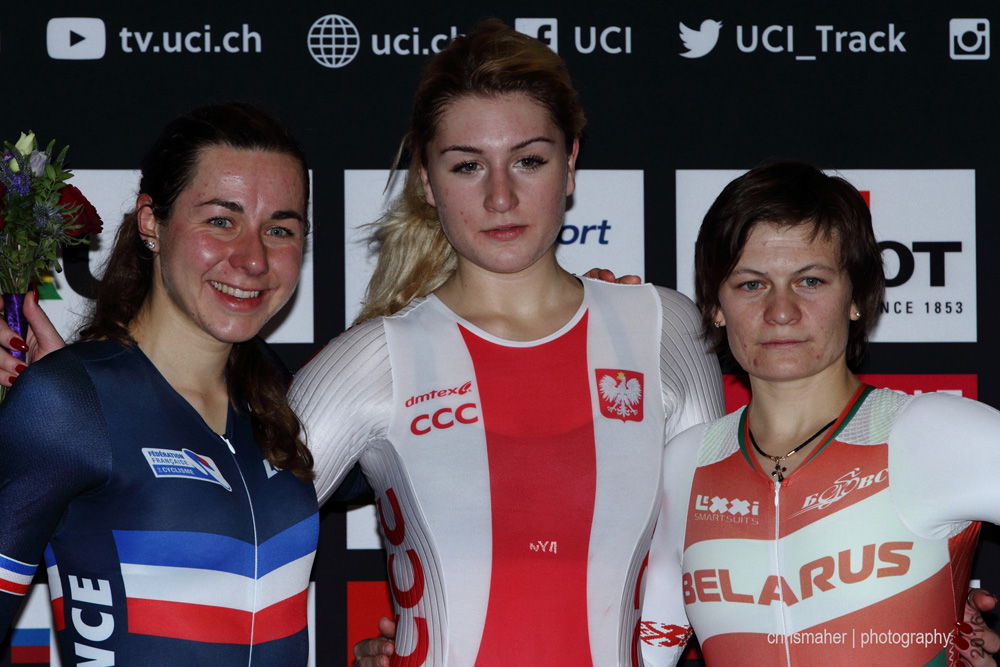 UCI Track World Cup 2016/7 | Glasgow - Round One, Day Two... Women's IP Podium